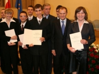 Wręczenie stypendium Prezesa Rady Ministrów 2008